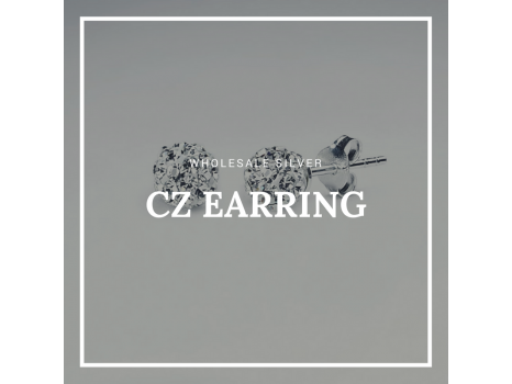 Wholesale Silver CZ Earring