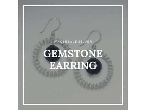 Wholesale Silver Gemstone Earring