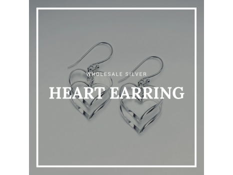 Wholesale Silver Heart Earring Design