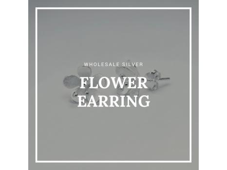 Wholesale Silver Flower Earring Design