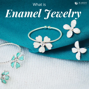 What is silver enamel jewelry