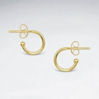 11mm Sterling Silver Classic Mini Hoop Stud Earrings