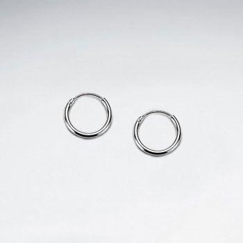 12mm Sterling Silver Mini Hoop Earrings