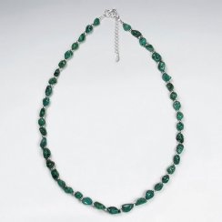 """16.5"""" Adjustable Turquoise Bead and Sterling Silver Necklace"""