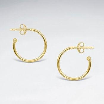 18mm Sterling Silver Half Hoop Stud Earrings