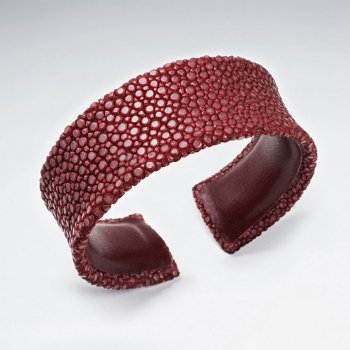 22 mm Width Red Concave Stingray Bangle
