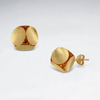 3D Geometric Shape Sterling Silver Stud Earring