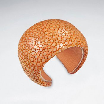 42 mm Width Orange Stingray Bangle