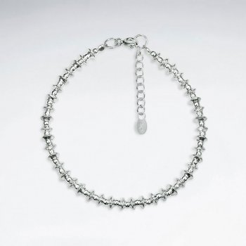 """7"""" Antique Nugget Silver Bracelet"""