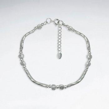 "7"" Delicate Thai Handmade Silver Petit Charm Bracelet"
