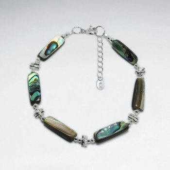 "7"" Rectangle Pawa Silver Bracelet"