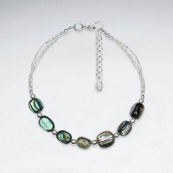 "7"" Rectangle Pawa Silver Bracelet"
