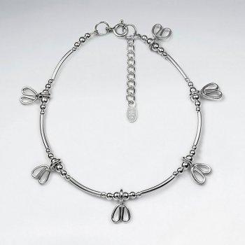 "7"" Thai Handmade Drop Pendant Charm Bracelet"