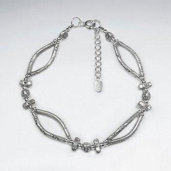 """7"""" Thai Handmade Open Charm Design Bracelet"""