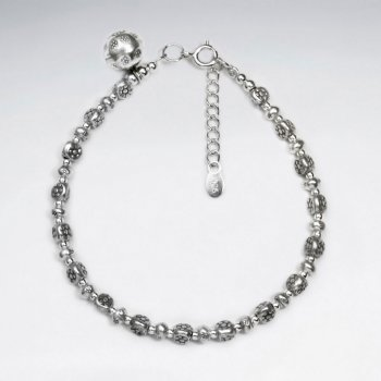 "7"" Thai Handmade Petit Bead Charm Bracelet"