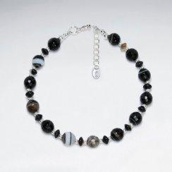 "7"" Weathering Agate Silver Bracelet"