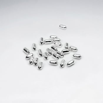 925 Silver Bullet Beads Pack Of 100 Pieces