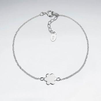 925 Silver Flower Silhouette Bracelet
