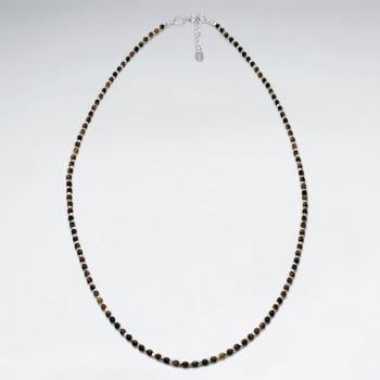 925 Silver Full Tiger Eye Necklace
