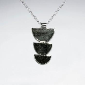 925 Silver Gradual Cascade Wood Pendant