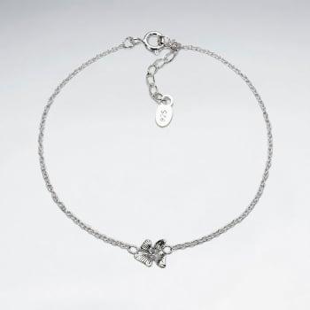 925 Silver Hawaiian Flower Bracelet