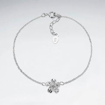 925 Silver Hawaiian Swirl Flower  Bracelet