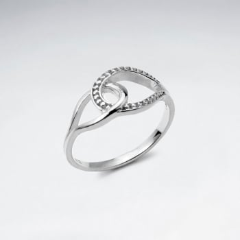 925 Silver Infinity Style Intertwined Openwork Ring