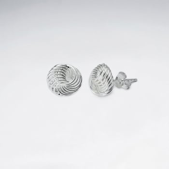 925 Silver Knot Stud Earrings