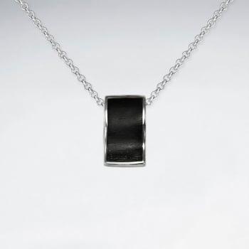 925 Silver Organic Inspired Wood Pendant