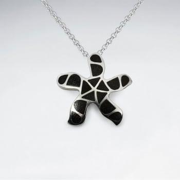 925 Silver Pinwheel Wood Pendant