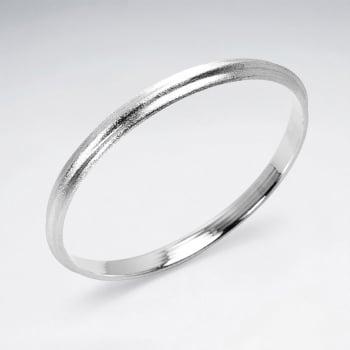 925 Silver Simple Bangle Bracelet