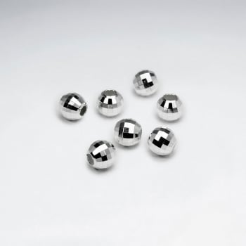 925 Silver Square Cut Faceted Beads Pack Of 10 Pieces