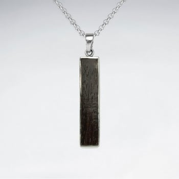 925 Silver Strength Wood Pendant