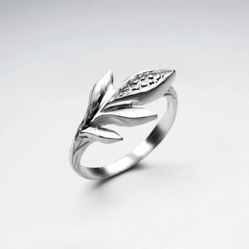 925 Sterling Silver Corn  Ring