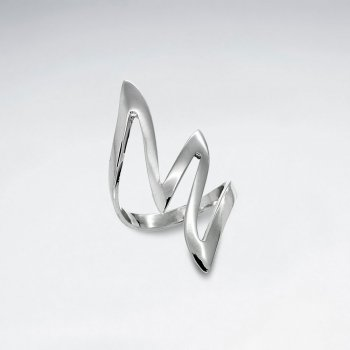 925 Sterling Silver Curved  Ring