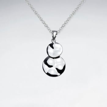 925 Sterling Silver Double Drop Circle Pendant