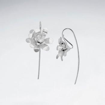 925 Sterling Silver Enchanted Dimensions Flower Earrings