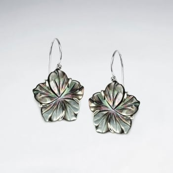 Abalone Flower Blossom Earrings