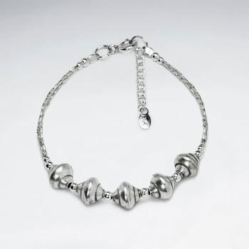 Adjustable Thai Hand Made Silver Bracelet  Silver Bead