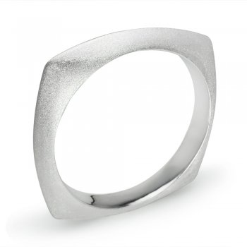 All Matte Finish Squared Stackable Bangle