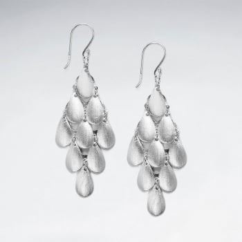 Alluring Cascade Sterling Silver Dangle Earrings