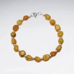 Aragonite Bead Bracelet