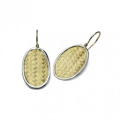 Artful Allure Basket Weave Earrings in Sterling Silver