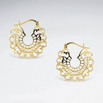 Artisan Filigree Openwork Sterling Silver Earrings