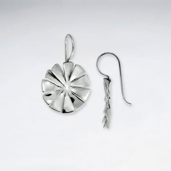 Asterisk Inspired Handmade Silver Dangle Earrings