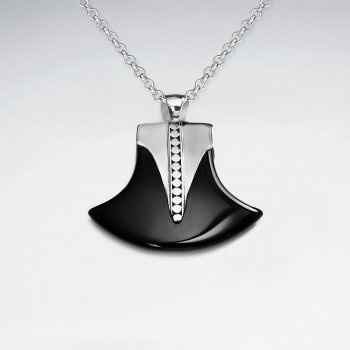 Axe Black Stone Silver Stone