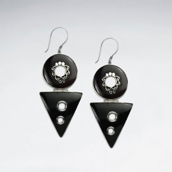 Betting Bang Shell Geometric Style Dangle Earrings