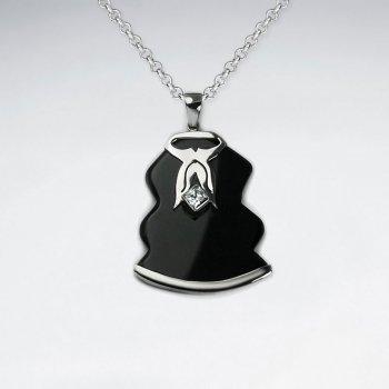 Black Stone Silver Pendant