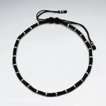 Black Wax Cotton  Anklet