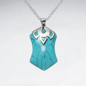 Blue Howlite Silver Pendant